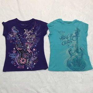 Hard Rock Cafe shirt set girls kids size 4 / 5 S